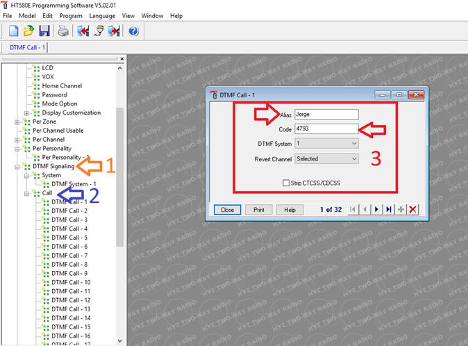 Como crear los Alias para decodificación en pantalla con DTMF en